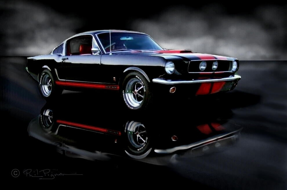 phil 39 s 1965 mustang gt a code fastback raven black with red pony interior 4 speed. Black Bedroom Furniture Sets. Home Design Ideas